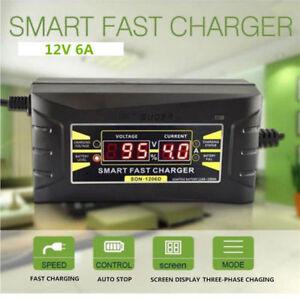 Coche-12V-6A-Plomo-Acido-Bateria-Cargador-Trifasico-Rapido-Inteligente-Visual