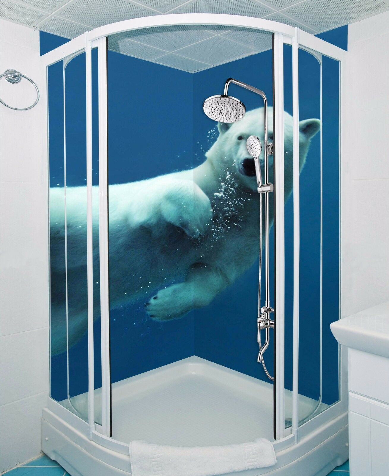 3D Ocean bear 5586 WallPaper Bathroom Print Decal Wall Deco AJ WALLPAPER UK