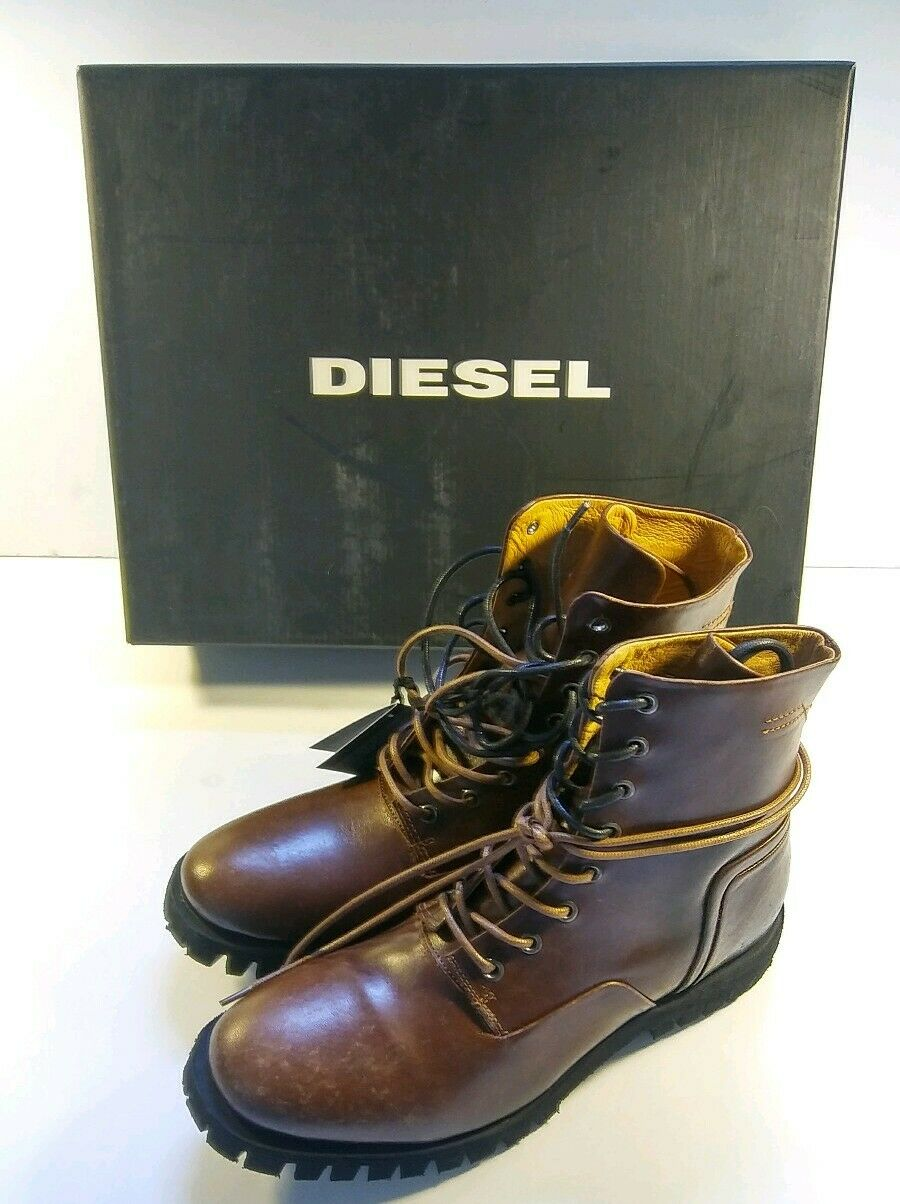 Diesel Mens Leather Boots size 10