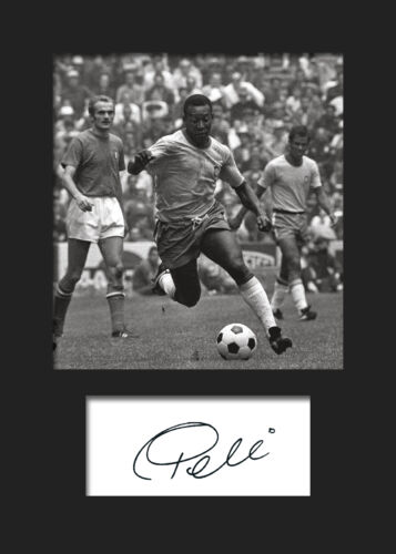 FREE DELIVERY PELE #1 Signed Photo A5 Mounted Print BRAZIL