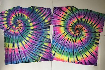 *New* Handmade Carbon Blue Sash Tie Dye 30 Yrs Exp! Sm 4XL Crew Or V Neck