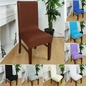Details about Seat Covers Kitchen Dining Bar Chair Covers Slipcovers  Wedding Party Decor