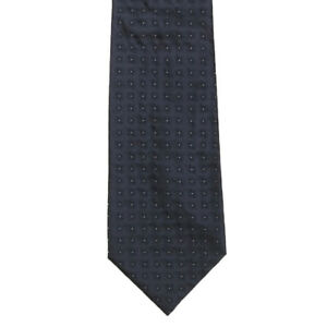 JOHN-VARVATOS-Midnight-Blue-Black-Star-Burst-Flower-Pattern-Men-039-s-Silk-Neck-Tie