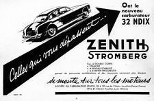 ▬► PUBLICITE ADVERTISING AD ZENITH Stromberg Carburateur 1955