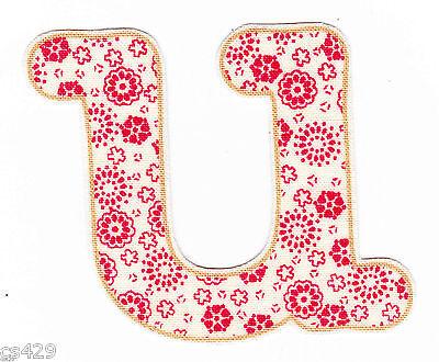 "2.5/"" Pretty flower letter c monogram fabric applique iron on"