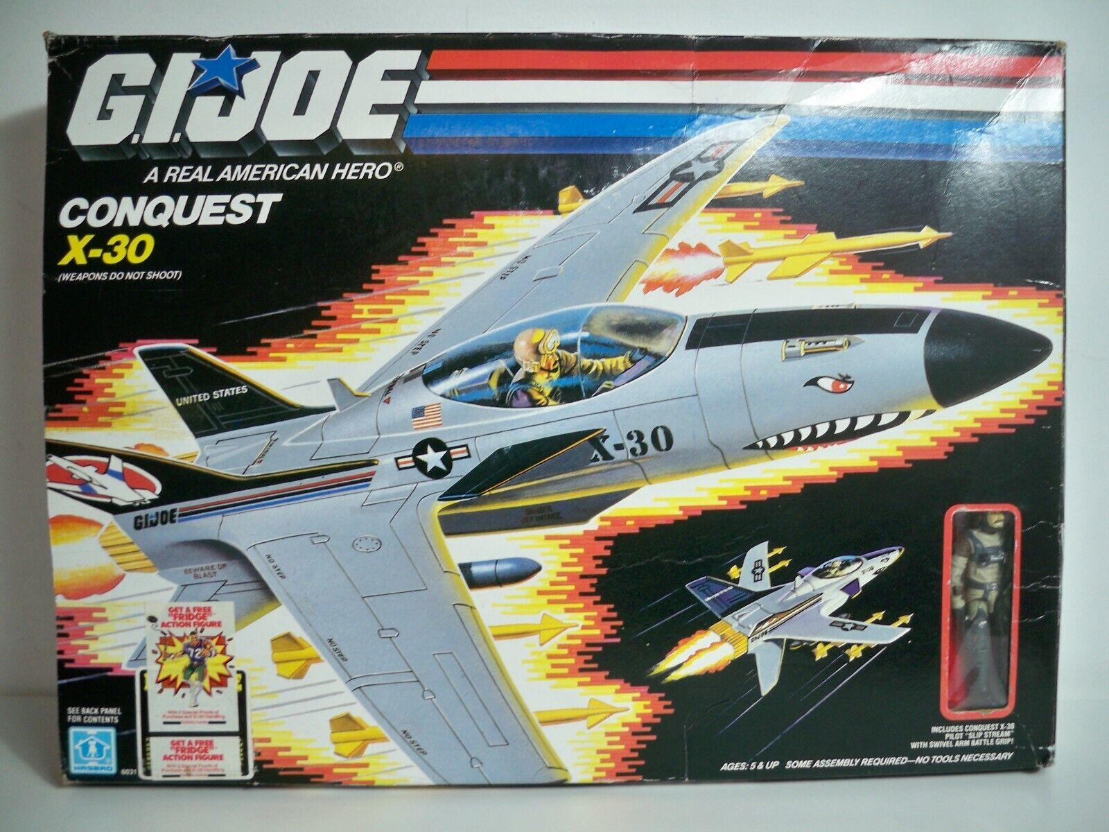 K1905612 CONQUEST X-30 MIB MINT IN BOX SEALED 100% COMPLETE 1986 GI JOE VINTAGE