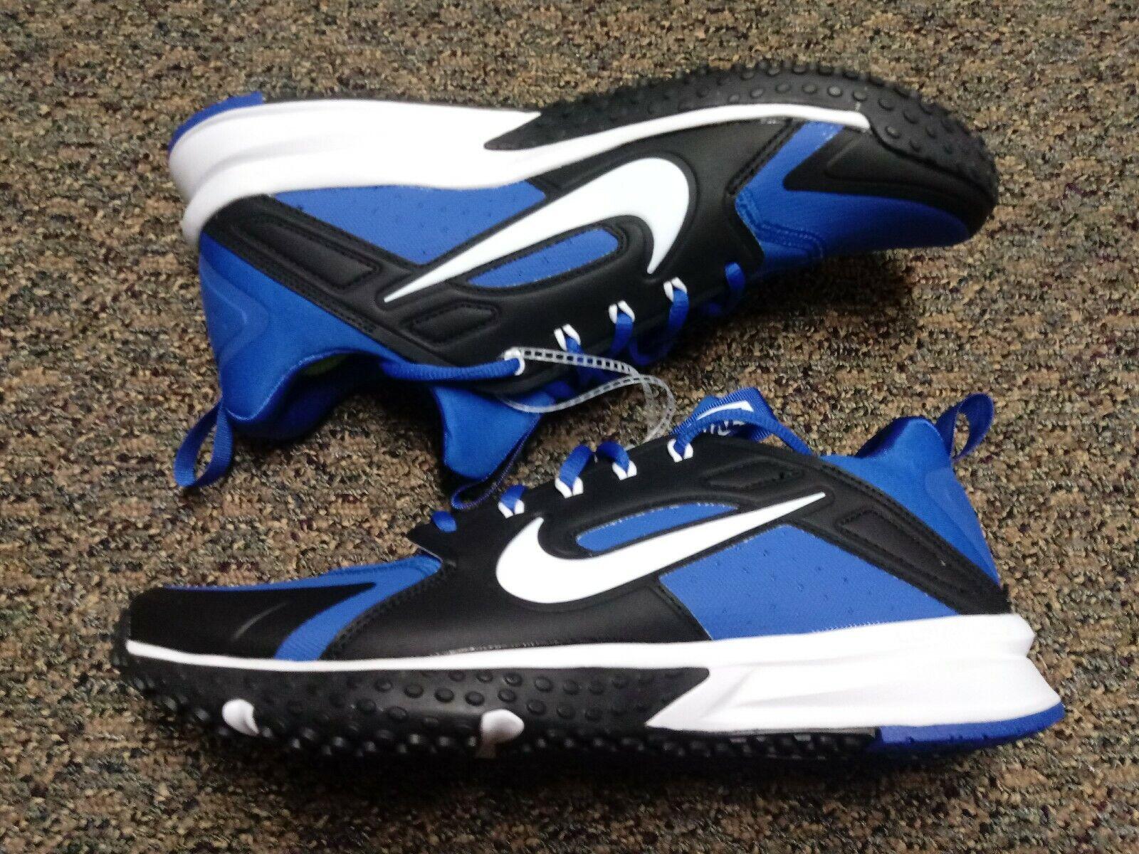 NEW NIKE ALPHA HUARACHE VARSITY TF Baseball TURF SHOES  923435-410 Mens Size 9