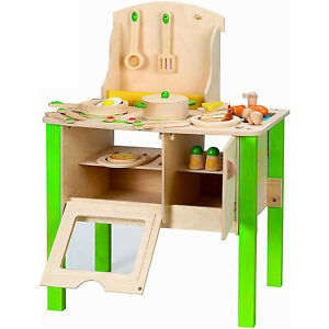 Hape My Creative Cookery Club Kids Wooden Kitchen Chef Playset for Ages 3 and Up