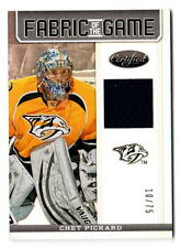 NHL trading cards --- Jersey card -- Chet Pickard --- Nashville Predators --- 10/75