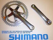 SHIMANO RX 100  BIOPACE SG KURBELGARNITUR 170 mm TOP VINTAGE ! NEU