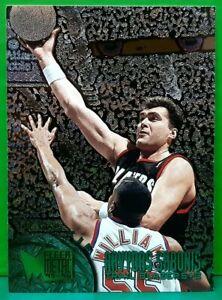 Arvydas Sabonis rookie card 1995-96 Fleer Metal #184