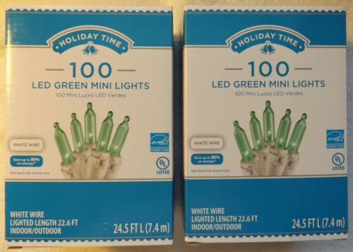 3 Lot of 2 or 4 Holiday Time 100 LED Mini Lights Indoor// Outdoor Party Wedding