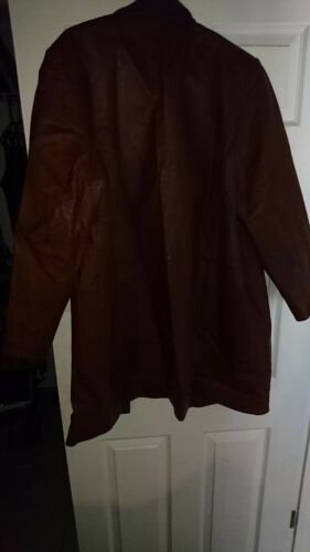 Large Via marron cuir Veste en Accenti qHU7Px4wvp