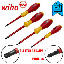 Wiha Phillips Screwdrivers Insulated Electricians Vde Softfinish Slimfit 1000v