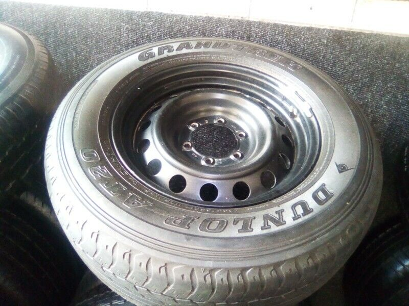 "17"" Toyota Hilux/Fortuner staeel rim with used 265/65/17 tyre to use for spare wheel R800."
