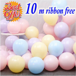 50-100pcs-Macaron-Candy-Colored-Party-Balloons-Pastel-Latex-Balloons-10-Inch-UK