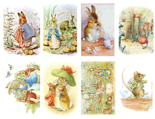 Beatrix Potter Vintage Stickers Peter Rabbit 16 Different Stickers Peel /& Stick
