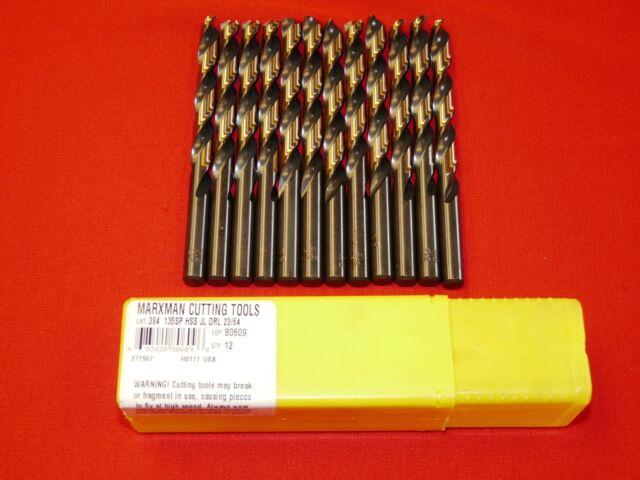 "12 pack Viking 1//4/"" Jobber Drill Gold Super Premium 3-Flats on Shank HSS  USA"