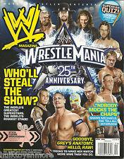 WWE Wrestling Magazine April 2009 Wrestlemania 25 John Cena Jeff Hardy CM Punk
