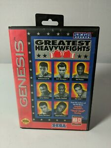 Greatest-Heavyweights-Sega-Genesis-1993-Complete-Vintage-Tested-Boxing-Rare