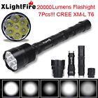 XLightFire 34000 Lumens 11x CREE XML T6 5 Mode Super Bright LED Flashlight Torch