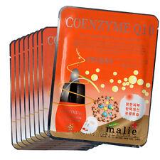 9 PCS Coenzyme Q10 Facial Skin Care Mask Pack Essence Collagen Moisture Malie