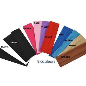 BANDEAU-pour-cheveux-sport-serre-tete-elastique-extensible-yoga-couleurs