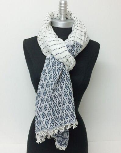 New Women/'s Winter Scarf Ticking Striped Oblong Shawl Wrap Pashmina Soft Navy