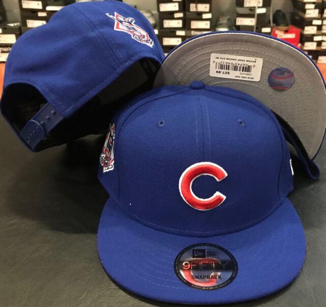 Chicago Cubs Blue M L Baycik Snap Snapback 9Fifty New Era Adjustable CAP  Hat mlb 59e43b12af4