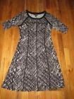 Connected Eggplant Shift Sweater Dress Size M Women/'s Casual New *