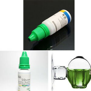 Aquarium Carbon Dioxide CO2 Drop Monitor Glass Ball Checker Tester PH Indicator
