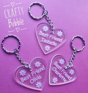 Personalised-acrylic-engraved-Best-friend-key-ring-engraved