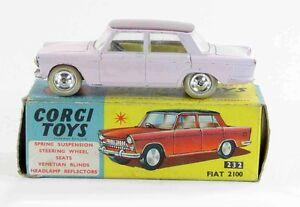 1 / 43 Ème Corgy Toys Fiat 2100 Jouet Ancien