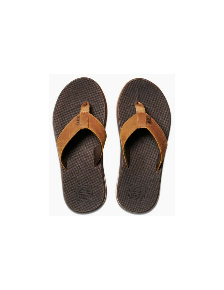 Reef Leather Fanning Low Leather Sandals in braun