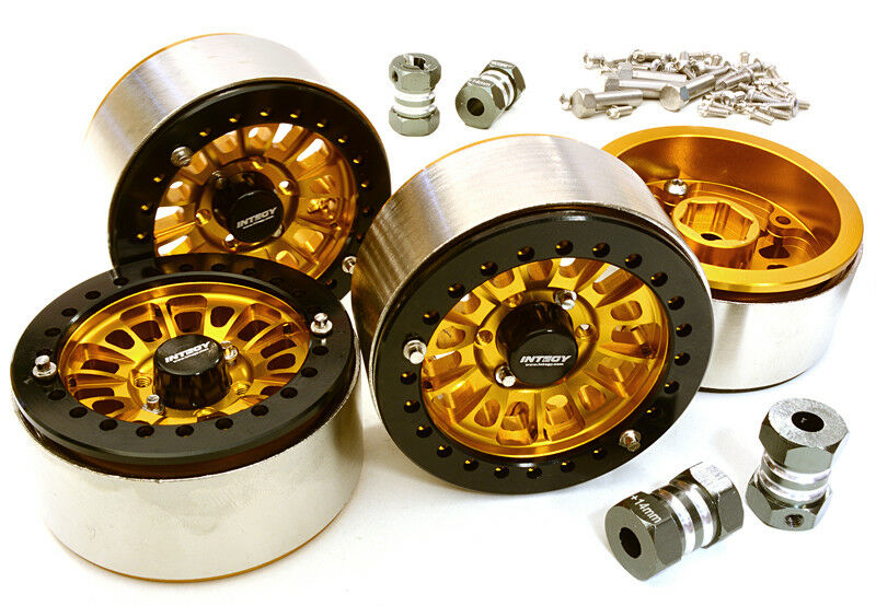 INTEGY RC C27029oro 1.9 High Mass Wheel(4)w 14mm Offset Hubs for 1 10 Crawler