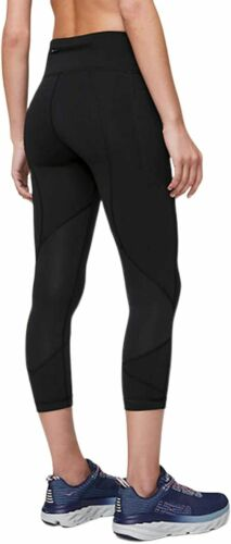Lululemon pace rival crops 22' in black size 6