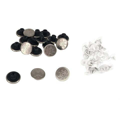 17 mm Shiny Silver Metal Hammer sur remplacement Jean Boutons Rivets PINS Easy Fix