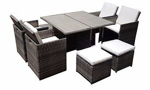 RATTAN-WICKER-CONSERVATORY-OUTDOOR-GARDEN-FURNITURE-PATIO-CUBE-TABLE-CHAIR-SET