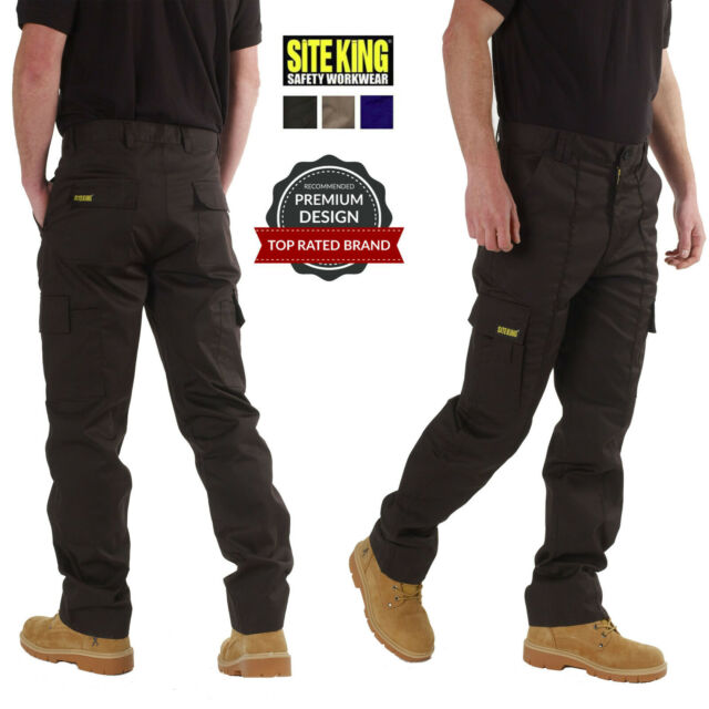 Action Work Combat Trousers DK Mens Zipper Cargo Combat Trousers Pants