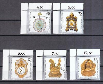 Selbstlos Brd 1992 Postfrisch Kostbare Alte Uhren Minr. 1631-1635 Eckrand Links Oben Taille Und Sehnen StäRken
