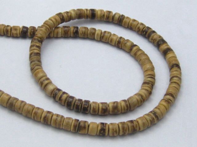 """2 Strands of 16/"""" Natural Coconut Rondelle Beads 8mm"""