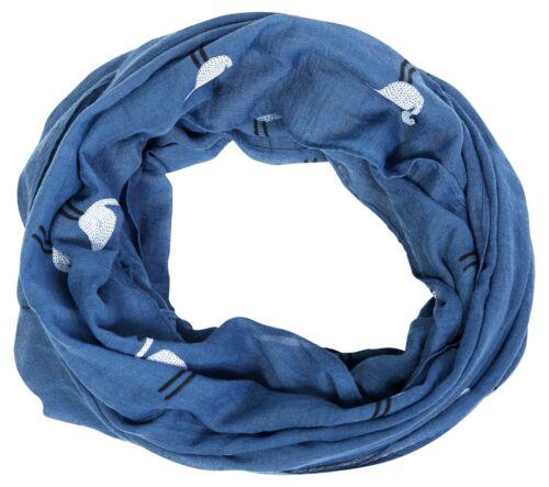 Damen Loop Schal Viskose Tuch Halstuch Winter Sommer diverse Designs