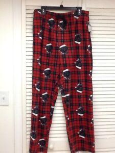 Image is loading Men-039-s-Red-Plaid-Fleece-Sleep-Pant- e030d9355a02