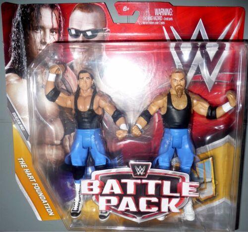 JIM NEIDHART BRET HART FOUNDATION WWE Mattel Battle Packs Series 47 Toys DMG PKG