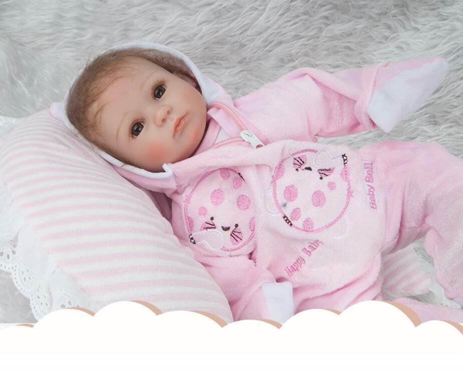 Realistic Newborn Likelife Newborn Realistic Fake Baby Doll Long Sleeve Hooded Suit Jumpsuit Gifts bd2e9c