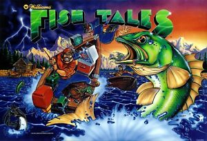 Amical Williams Fish Tales Flipper Machine Translite