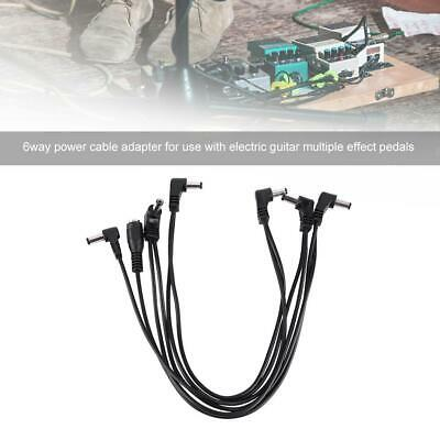 black electric guitar effect pedal patch cable power supply adapter leads cord ebay. Black Bedroom Furniture Sets. Home Design Ideas