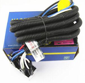 oem h4 headlight relay wiring harness system 2 headlamp light bulb image is loading oem h4 headlight relay wiring harness system 2
