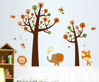 Elephant Lion Giraffe Tree Wall Decal Removable Wall Stickers Kids Nursery Decor