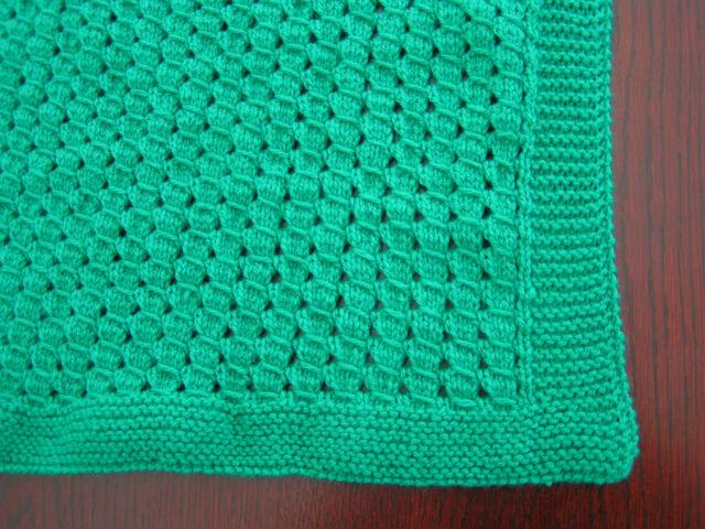 Easy to Knit Baby Blanket Pattern in DK | eBay